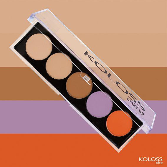 PALETA DE CORRETIVOS 02 - IMPECÁVEL Koloss Make Up