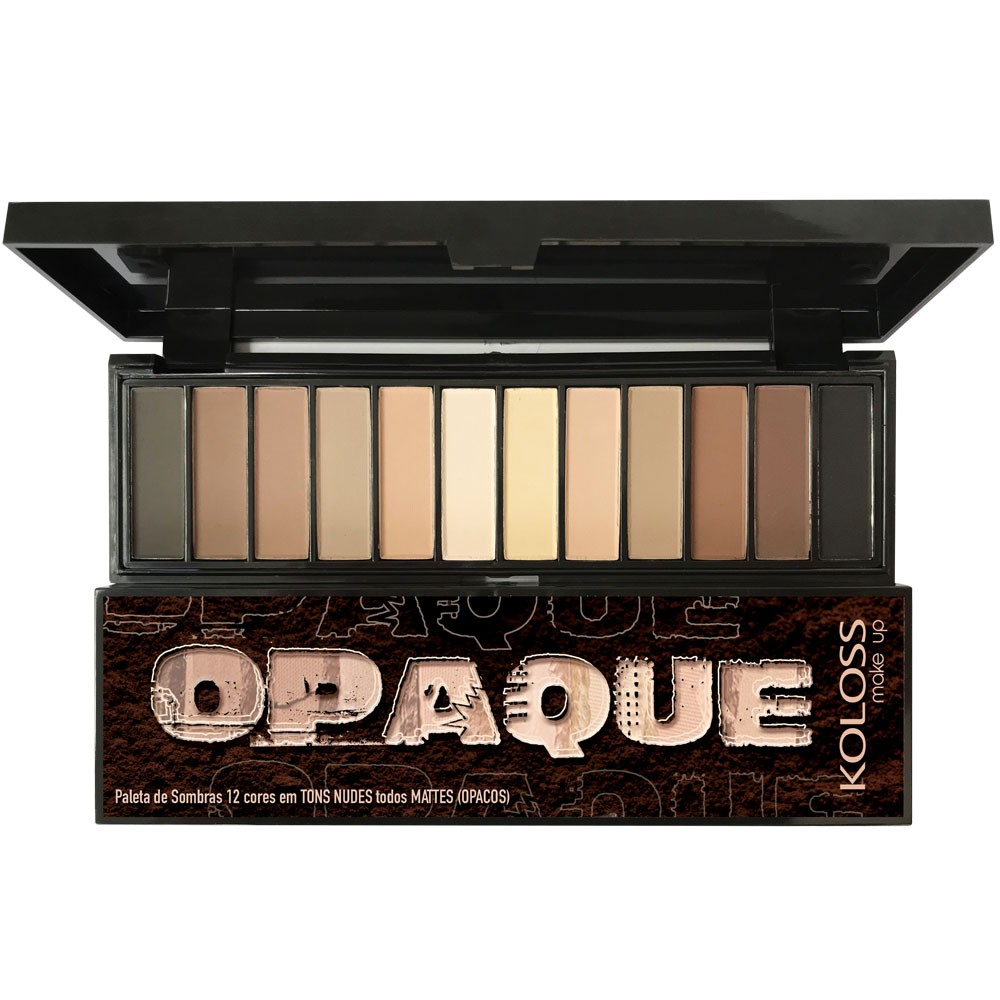 PALETA DE SOMBRAS 06 - OPAQUE MATTE Koloss Make Up