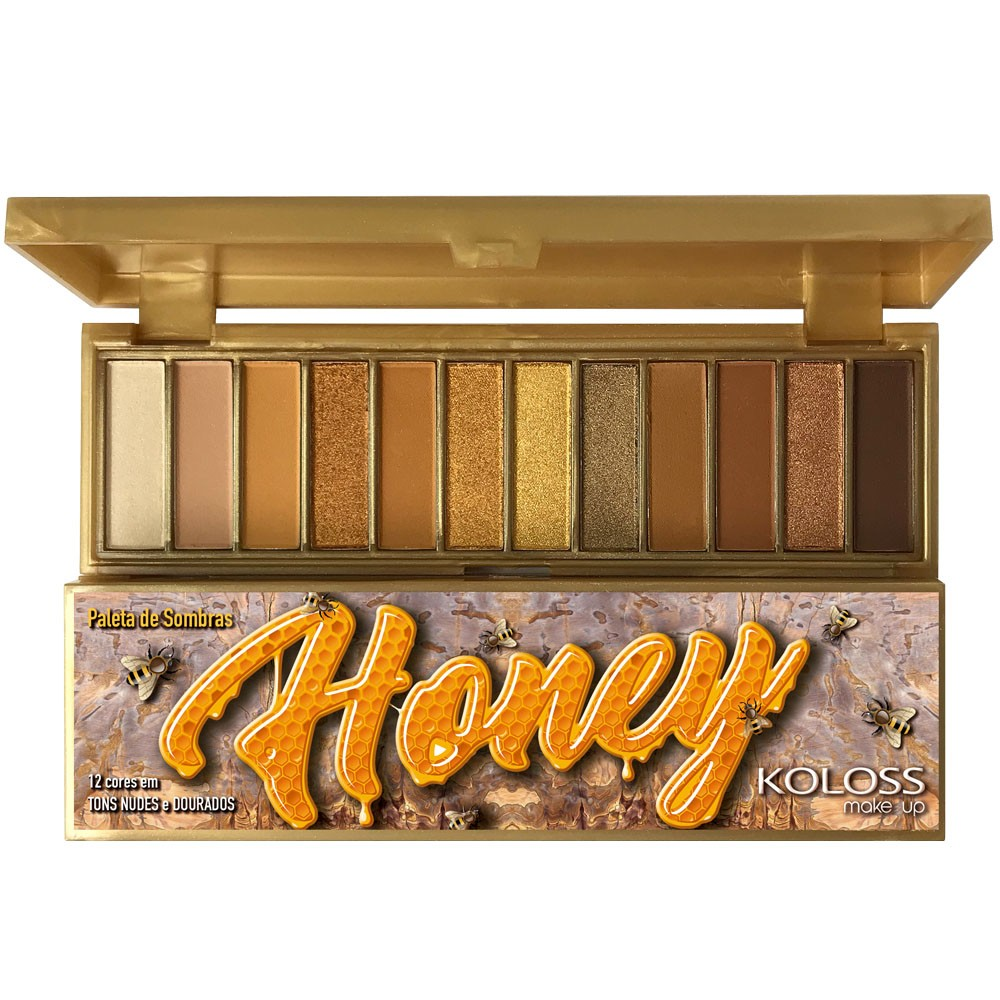 PALETA DE SOMBRAS 09 HONEY  Koloss Make Up