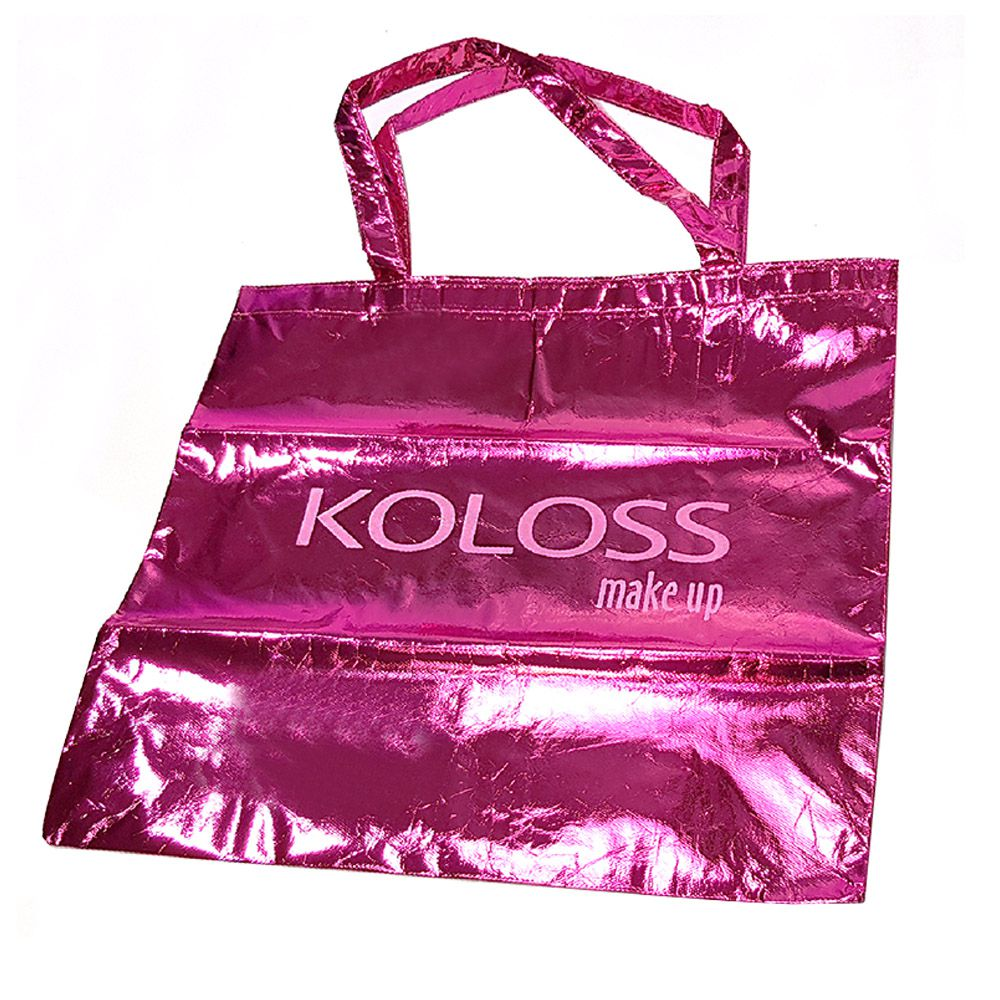 SACOLA METALIZADA PINK KOLOSS MAKE UP