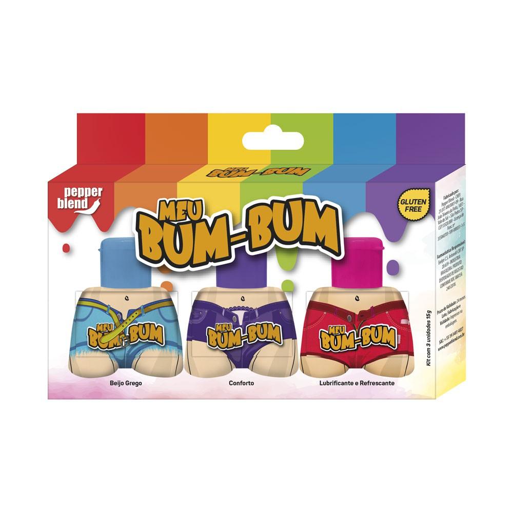 Meu Bum-Bum - Kit Conforto, Lubrificante e Refrescante, Beijo Grego