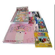 Material Escolar Feminino E Masculino C/ Caderno De Desenho