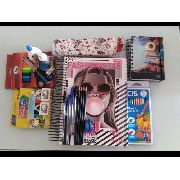 Combo Material Escolar Caderno 20 Materias + Agenda + Estojo