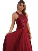 Vestido De Festa Marsala Super Luxo Madrinhas Noite Brilho