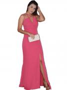 Vestido Festa Pink Goiaba 15 Anos Casamento Civil Madrinha
