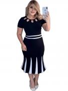 Vestido Midi Social Moda Evangelica