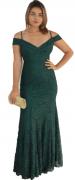 Vestido Verde Escuro De Festa Madrinhas Formatura Casamento