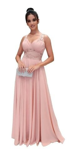 Vestido De Festa Luxo Azul Serenity Rosê Marsala Formatura Madrinha Mãe de Noivos