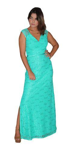 Vestido Tiffany Festa Manguinha Outono Inverno Brilho Longo