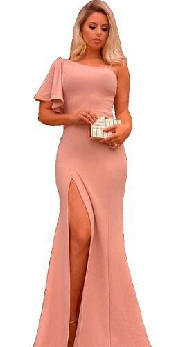 Vestido de Festa Longo Noite Madrinha Formatura Preto Rose Marsala Luxo