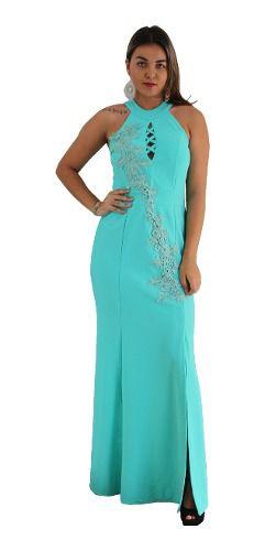 Vestido Azul Tiffany De Festa Longo Madrinha Formanda Bojo