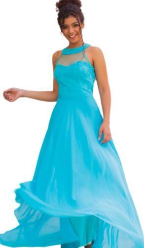 Vestido Azul Tiffany Longo Para Festas Aniversário Debutante