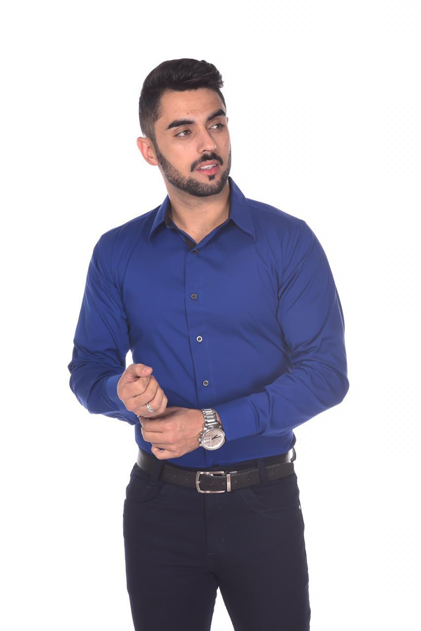 Camisa Social Slim Fit Executivo Cores Variadas