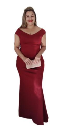 Vestido Longo Marsala Festa Moda Evangélica Madrinha