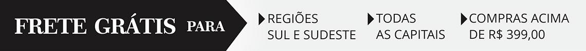 frete grátis para as regiões sul e sudeste, todas as capitais e compras acima de r$ 399
