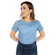 Blusa Feminina Jeans Claro