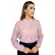 Camisa Feminina Manga Longa Rosa com Regulador