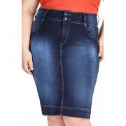 Saia  Midi Plus Jeans Dyork Jeans