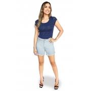 Shorts Jeans Feminino Cintura Alta Dyork