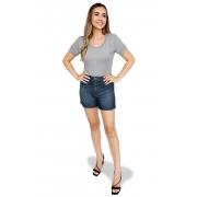Shorts Jeans Feminino Cós Alto Dyork