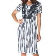 Vestido Estampa Animal Print Com GuippirDyork Jeans