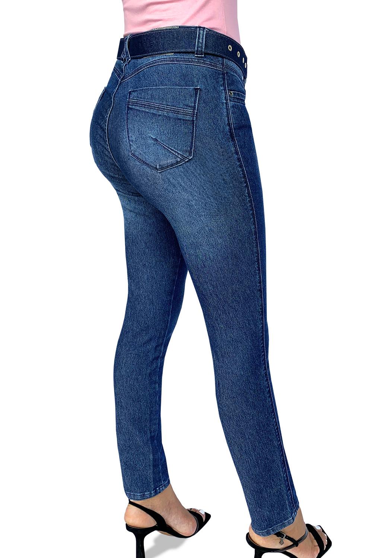 Calça Jeans Feminina Cigarrete Cós Alto Dyork