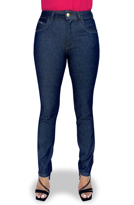 Calça Jeans Feminina Reta Cós Alto Dyork