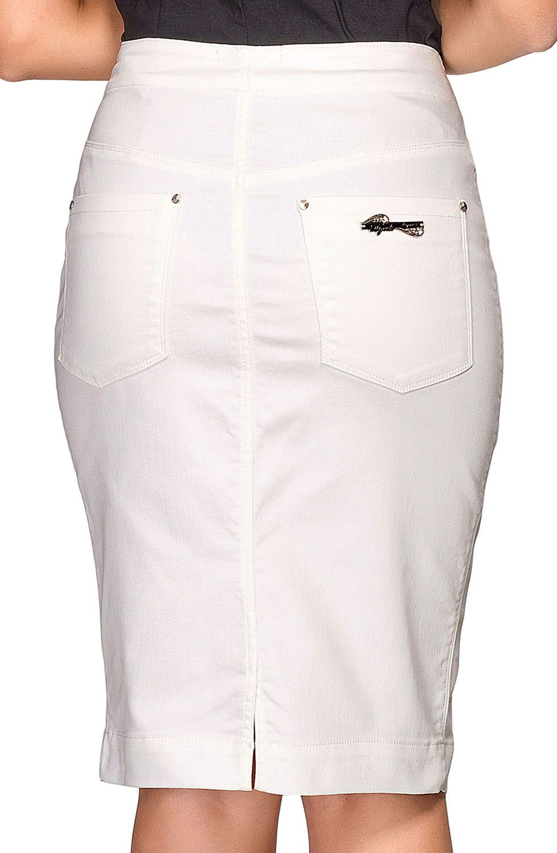 Saia Branca Bordada Com Fenda Frontal Dyork Jeans