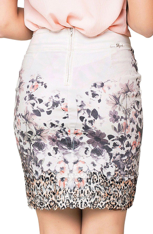 Saia Curta Estampa Floral Exclusiva Dyork Jeans