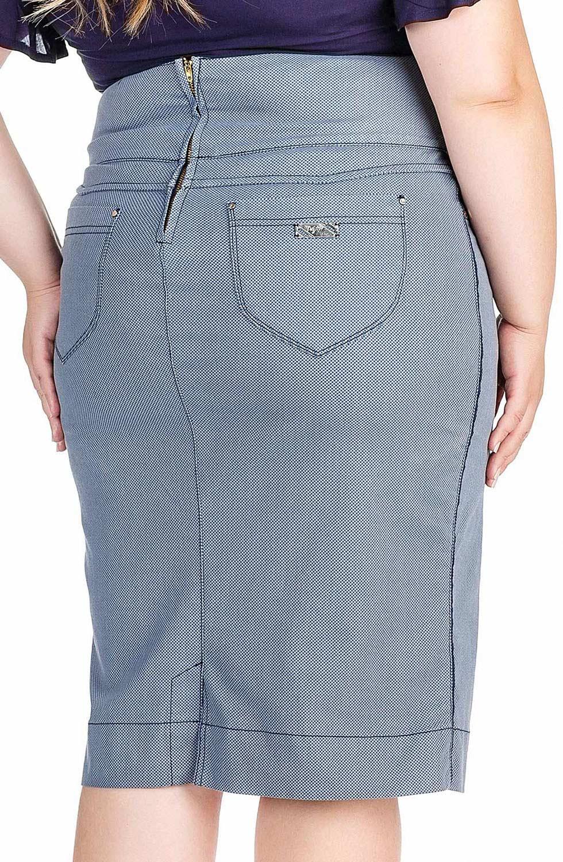 Saia Estampada com Vivo nas Laterais Dyork Jeans