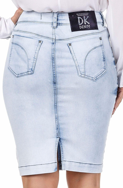 Saia Jeans Claro Secretária  Dyork Jeans