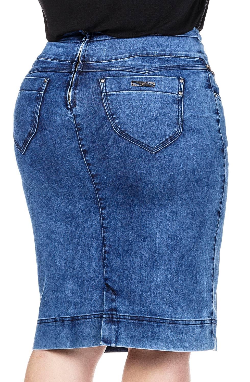 Saia Jeans com Detalhe de Zíper Frontal Dyork Jeans