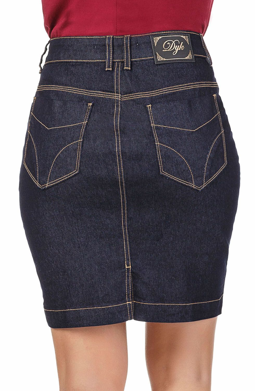 Saia Jeans Curta com Elastano Dyork Jeans
