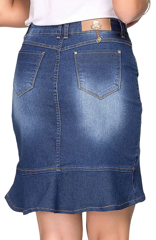 Saia Jeans Curta Flare  Dyork Jeans