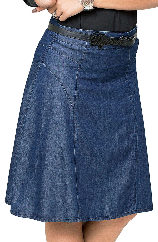 Saia Jeans Midi Evasê Dyork Jeans