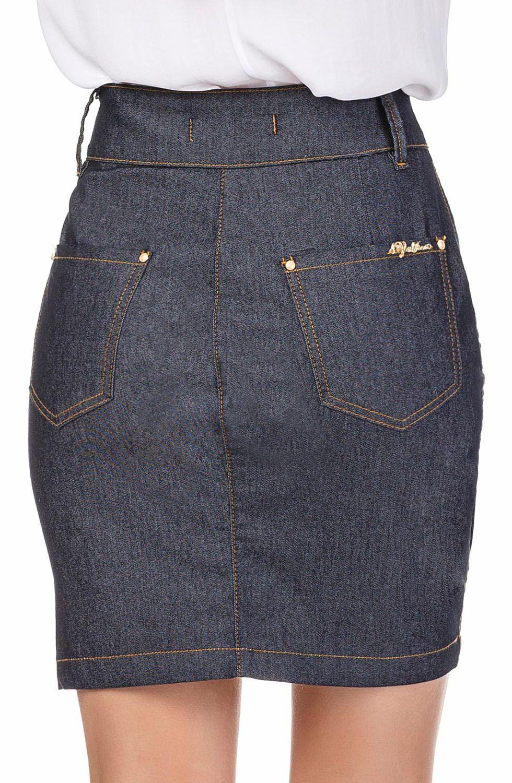 Saia Jeans Zíper LateralDyork Jeans