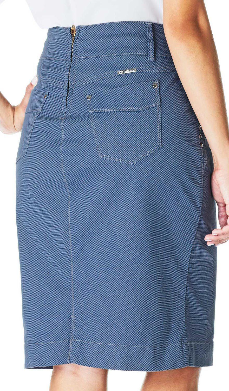 Saia Lápis Sarja Acetinada Estampada Dyork Jeans
