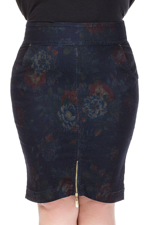 Saia Plus Size Estampada Detalhe Zíper Na Barra Dyork Jeans
