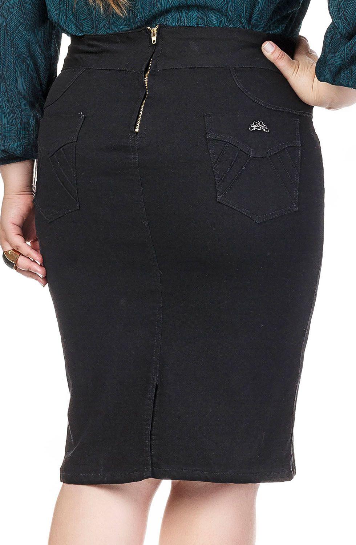 Saia Preta Mid Plus Size Dyork Jeans