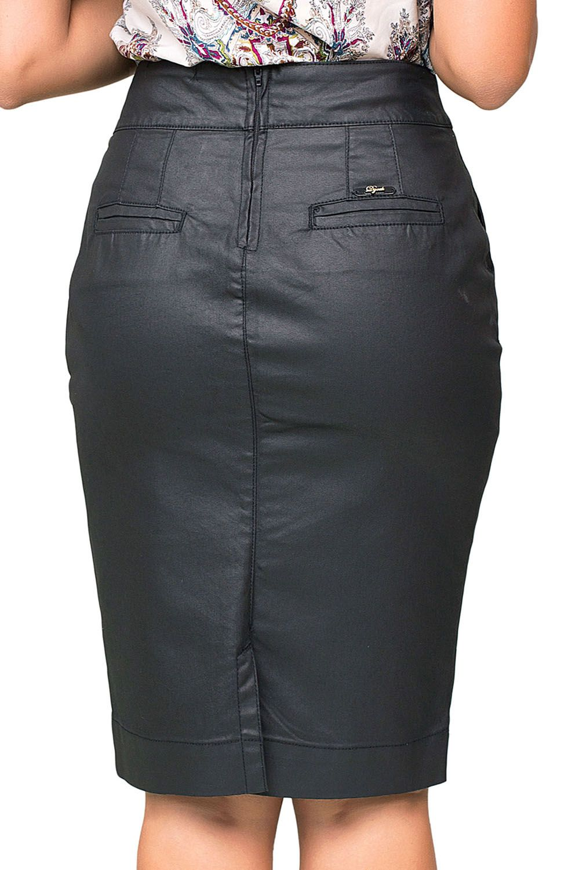 Saia Preta Resinada Clássica Dyork Jeans