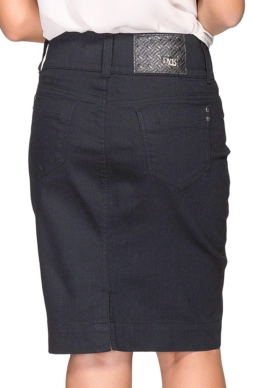 Saia Preta Secretária Dyork Jeans