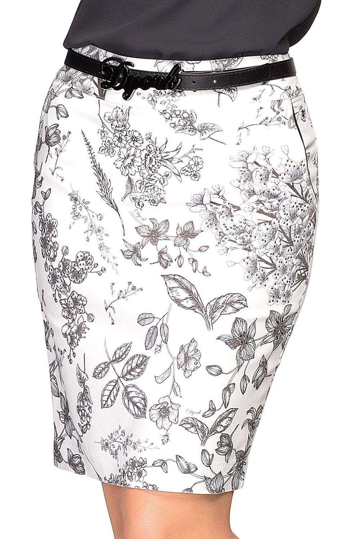 Saia Secretária Estampa Floral Exclusiva Dyork Jeans