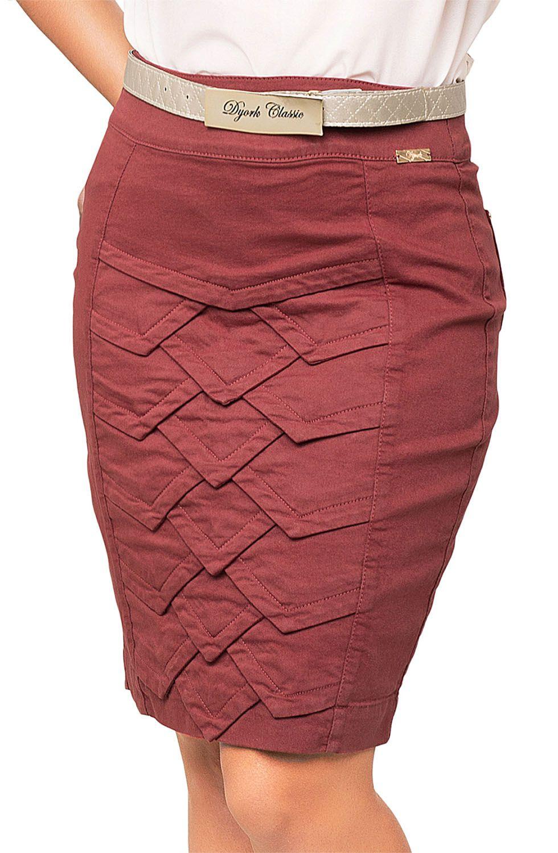 Saia Secretária Telha Recortes Frontais Dyork Jeans