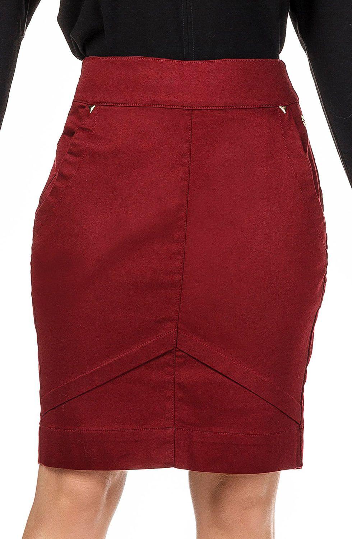 Saia Secretária Vermelha com Bolso Faca Dyork Jeans
