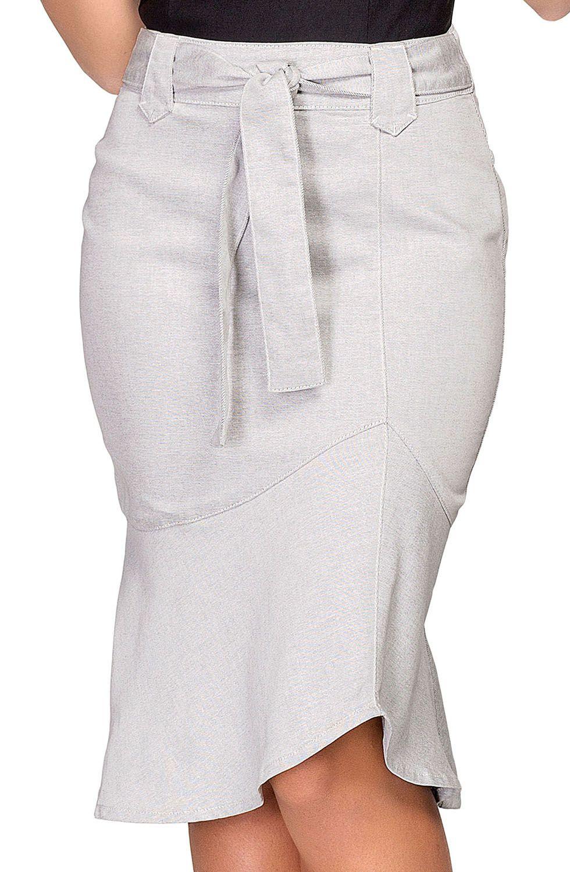 Saia Sereia Com Amarração Frontal Dyork Jeans