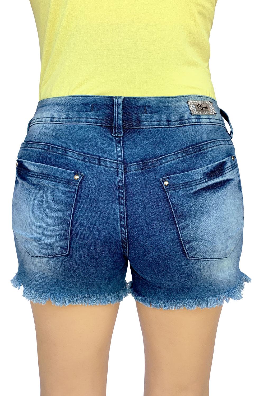 Shorts Jeans Feminino Cós Médio Dyork