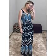 Vestido Longo Geométrico