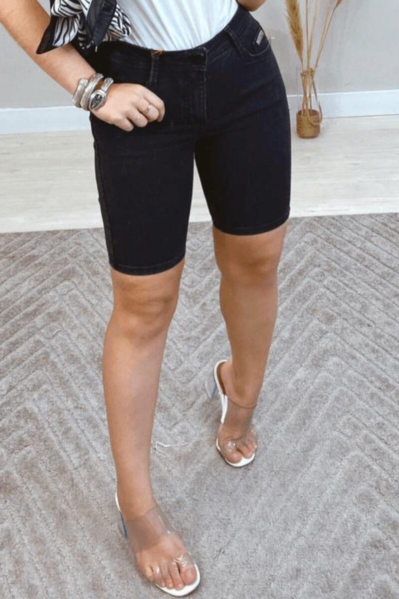 Bermuda Feminina Jeans Stonado Tezz