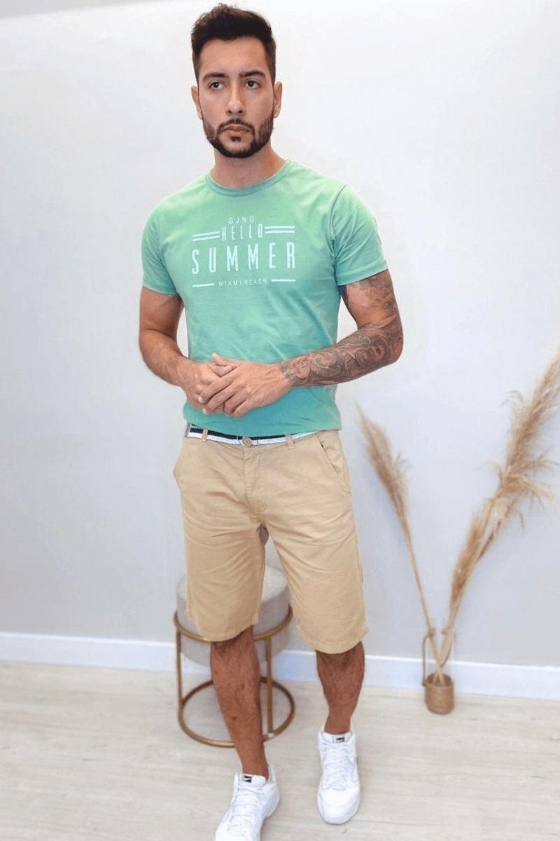 Bermuda Masculina Brim Slim