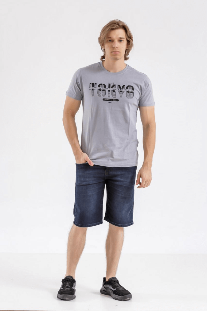 Bermuda Jeans Masculina Max Azul Escuro